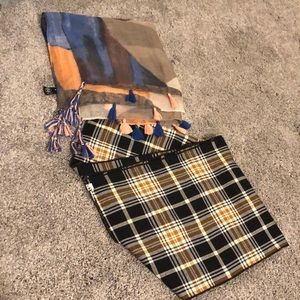 Accessories - 2 scarves- the plaid one is kavu